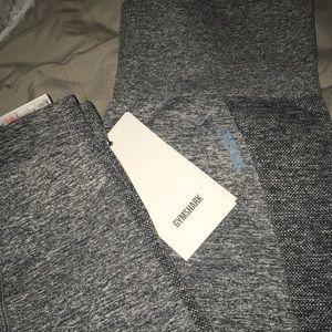 Gymshark Pants - Gymshark Flex High Waisted Leggings Charcoal/Teal